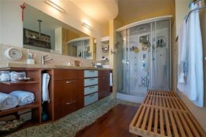 חדר האמבטיה עם מקלחת-סאונה